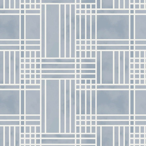 Block Patchwork- Pale Blue