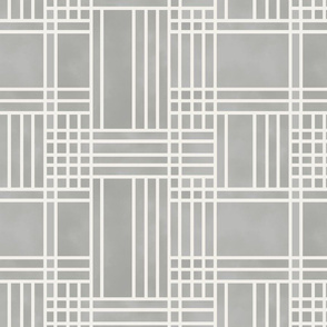 Block Patchwork- Stone Grey