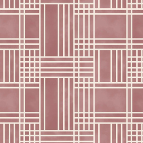 Block Patchwork- Marsala Red