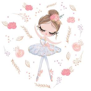 pink ballerina floral 18x18 loveys