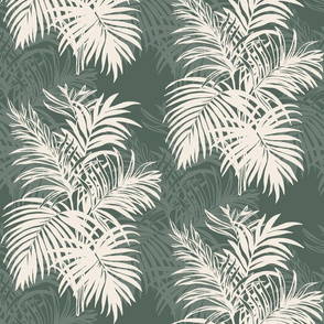 Deep Green Tropical Leaves