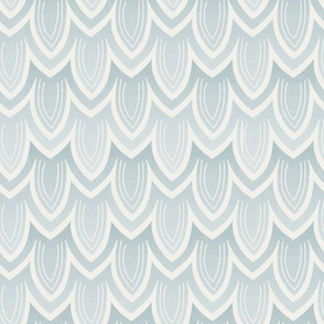 Feather- Pale Blue and Ivory