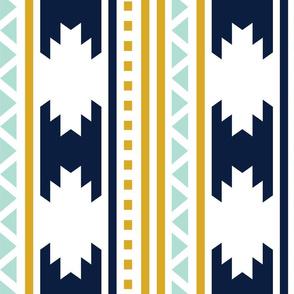 rotated navy aztec stripe