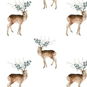 "4"" Woodland Fairytale Deer - White"