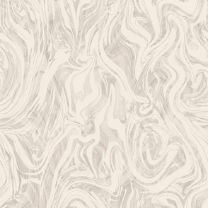 Ivory and Light Grey Marble
