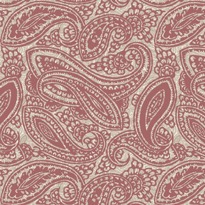 Marsala Red Packed Paisley