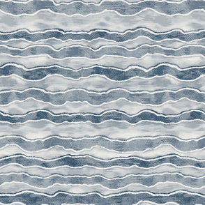 Navy Horizontal Wave Texture