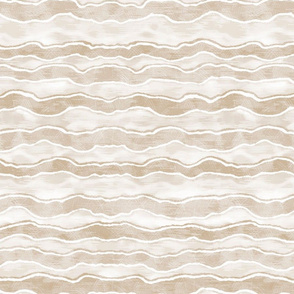 Tan and Ivory Horizontal Wave Texture