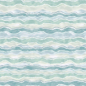 Teal and Green Horizontal Wave Texture