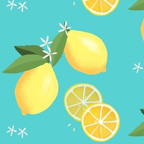 lemon love on aqua