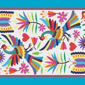 Mexican Otomi-Folk Art Tea Towel