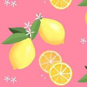 lemon love on pink