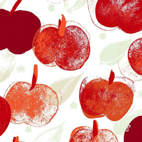 Apple Pick Large M+M White Reds by Friztin