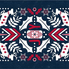 Festive Folklore - Christmas Tea Towel