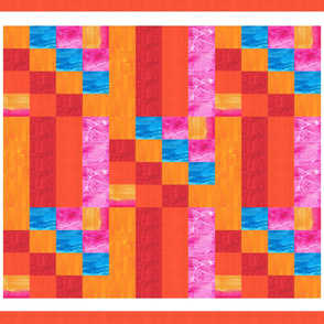 Cheater Quilt in Bright Watercolors