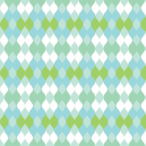 Argyle knit 306 - sea mint green mist.kiwi-ch