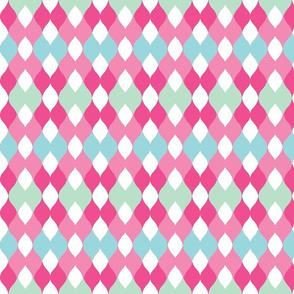 Argyle knit 306 -pinks  2mint green mist.kiwi-ch-ch-ch-ch