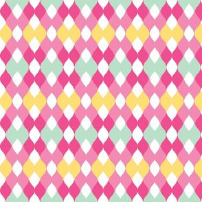Argyle knit 306 -yellow pinks  2mint green mist.kiwi-ch-ch-ch-ch-ch