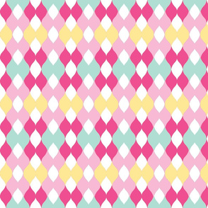 Argyle knit 306 -soft yellow light  w pinks  2mint green mist.kiwi-ch-ch-ch-ch-ch-ch-ch