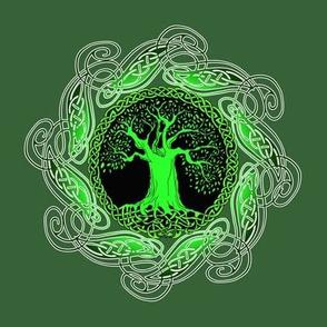 Celtic Tree Green Large