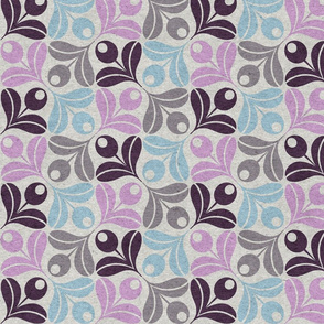 Abstract Olive Flower - lavender