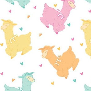 Large Scale Pastel Alpacas