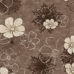 Large Flowers-neutral
