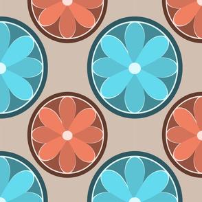 Mod Flowers Terra Blue
