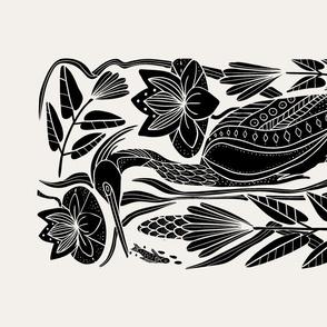 The Heron and the Minnow- Tea Towel