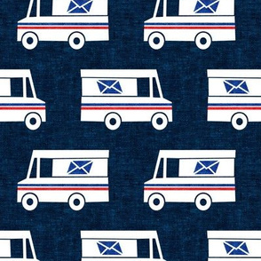 Mail Trucks - navy - LAD19