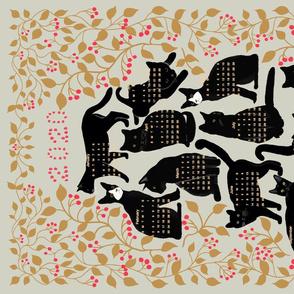 2020 calendar black cats