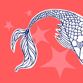 Star Fish Pisces Tea Towel Panel