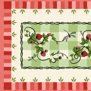 Strawberry Patch Tea Towel