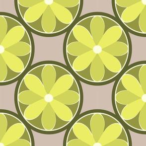Mod Flowers Citrine Beige