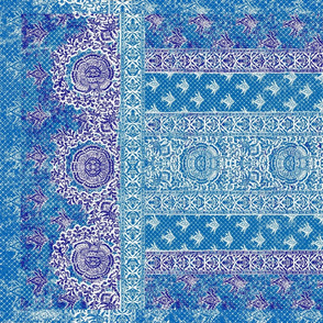 blue sarasa tea towel on mesh