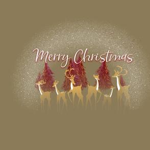 Fat Quarter: Merry Christmas Snow Deer