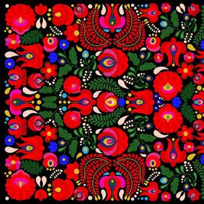 Inspired by Hungarian Folk Art / Tea Towel