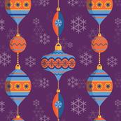 Vintage Baubles Christmas Ornament Pattern
