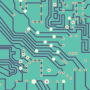 Future microchip | blue