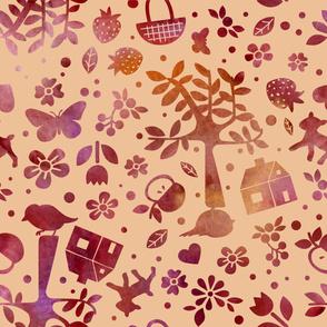 Wonderland garden - autumn - large scale
