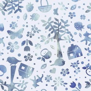 Wonderland garden - winter - large scale