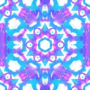 Purple cyan star kaleidoscope
