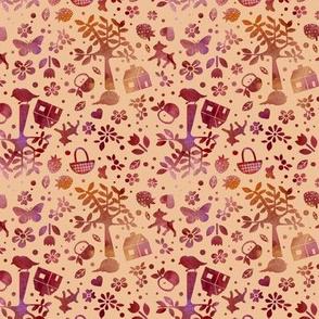 Wonderland garden - autumn - small scale