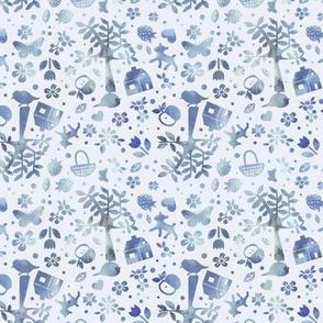 Wonderland garden - winter - small scale