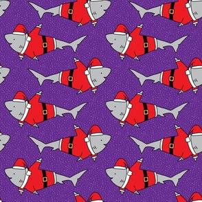 Santa Jaws on Purple- small scale