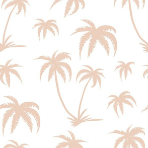 Palm Tree - White and Cream