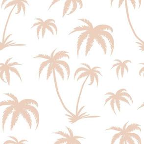 Palm Tree - White and Cream
