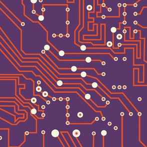 Future microchip | purple