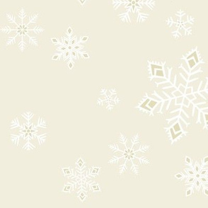 large - snowflakes on natural