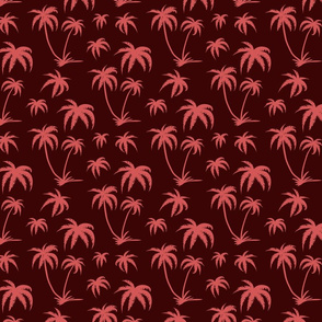 Palm Tree Small Scale - Brown and Pink